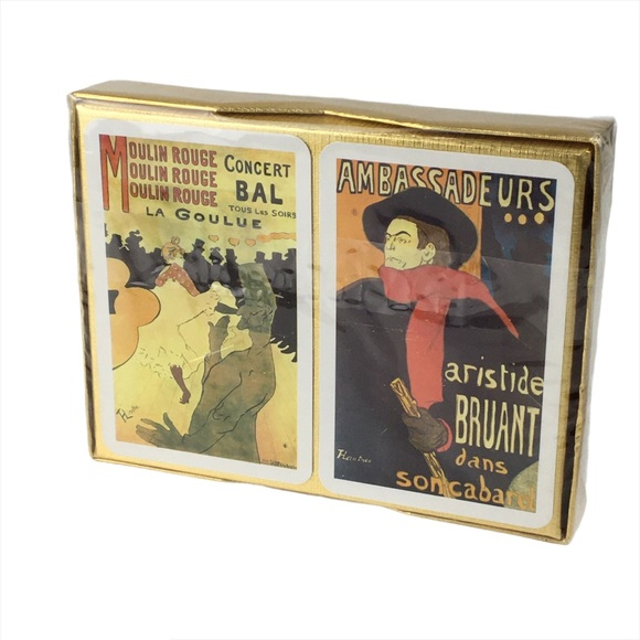 Toulouse Lautrec Sealed Double Deck Playing Cards